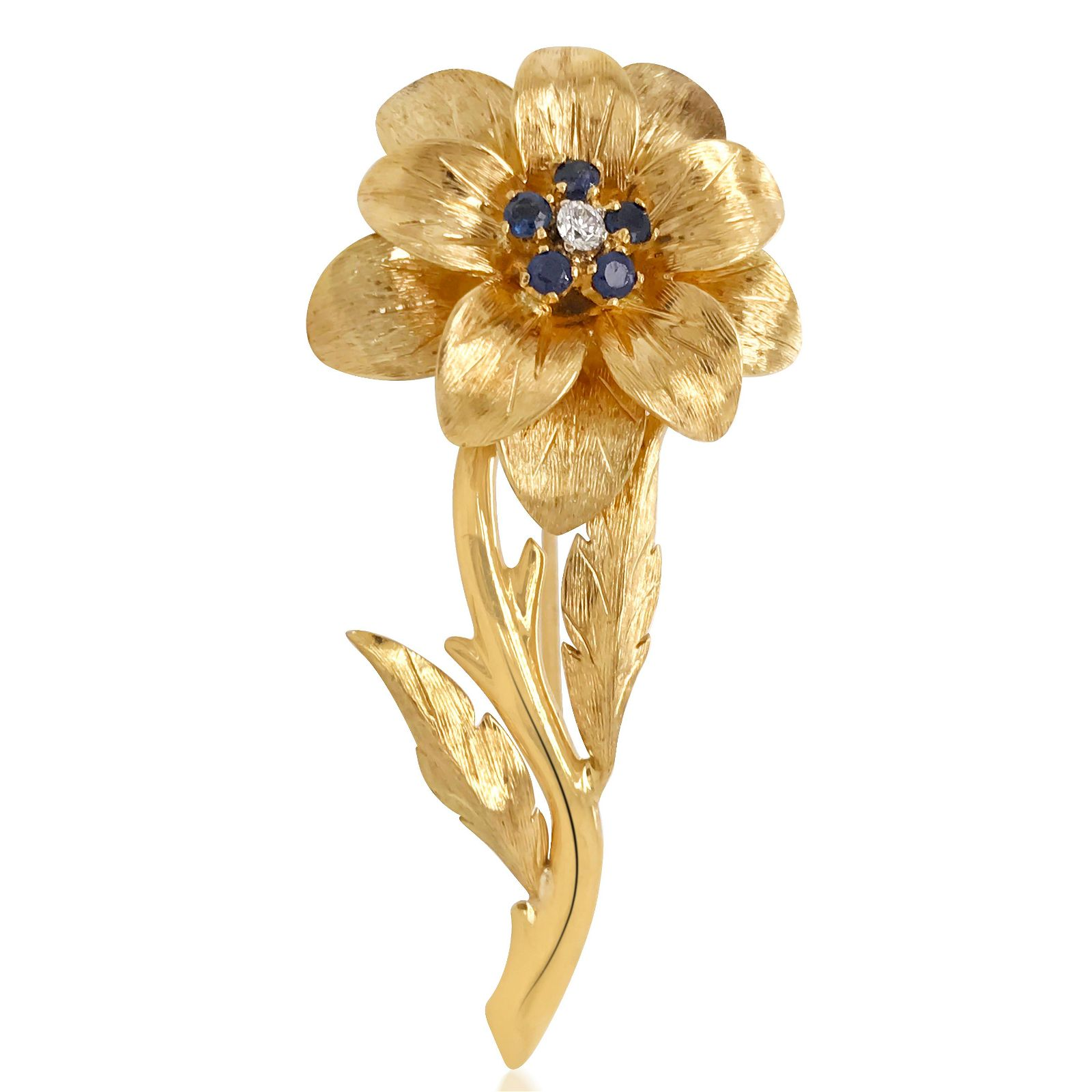 Tiffany & Co., 18K Gold and Sapphire Brooch