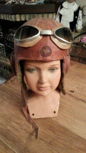 Japanese 2nd world war helmet with glasses