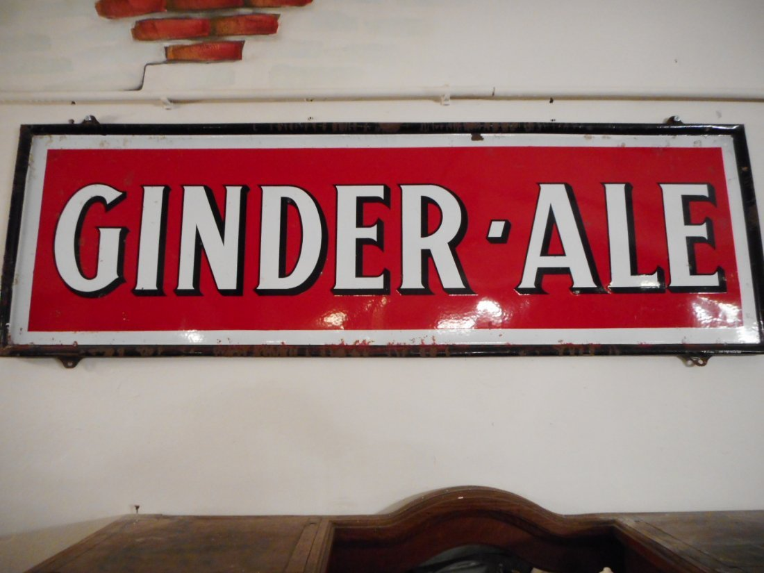 Emaille commercial sign Ginder Ale