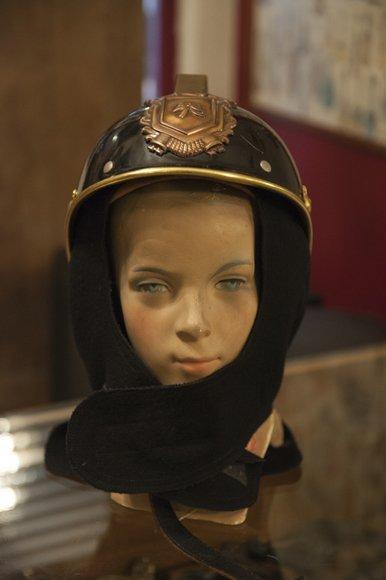 Old fireman's helmet, Belgian, in perfect condition