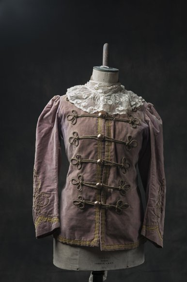 Antique theater suit, washed pink, from the late 1800's
