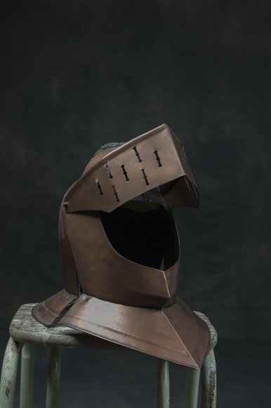 Old copper helmet