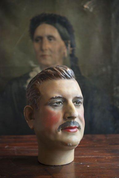 Antique male mannequin head