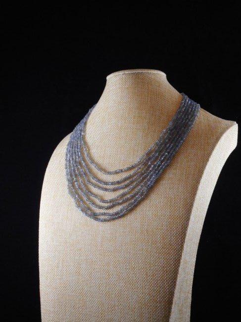7 strand necklace of labradorite