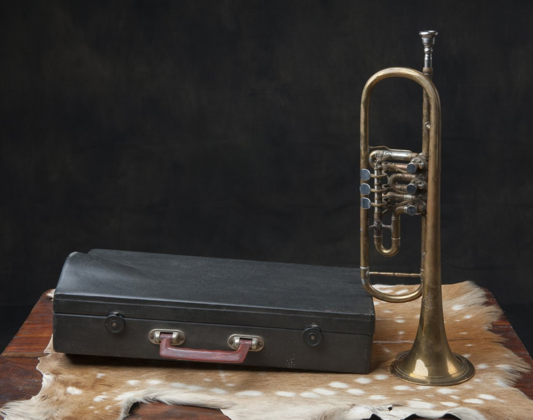 Trumpet with suitcase, 1940s / 50s - 2