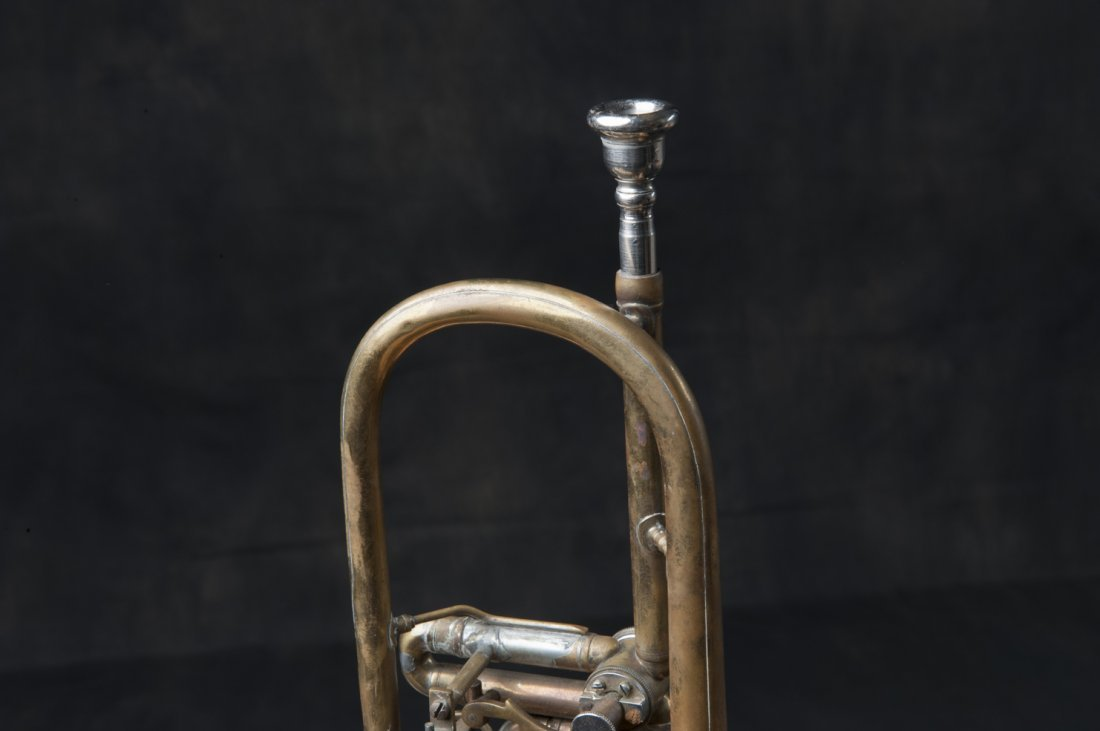 Trumpet with suitcase, 1940s / 50s - 4