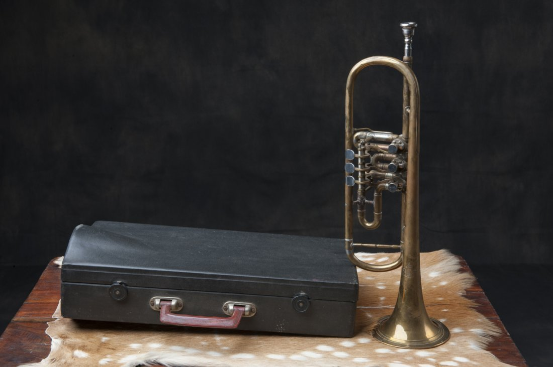 Trumpet with suitcase, 1940s / 50s - 5