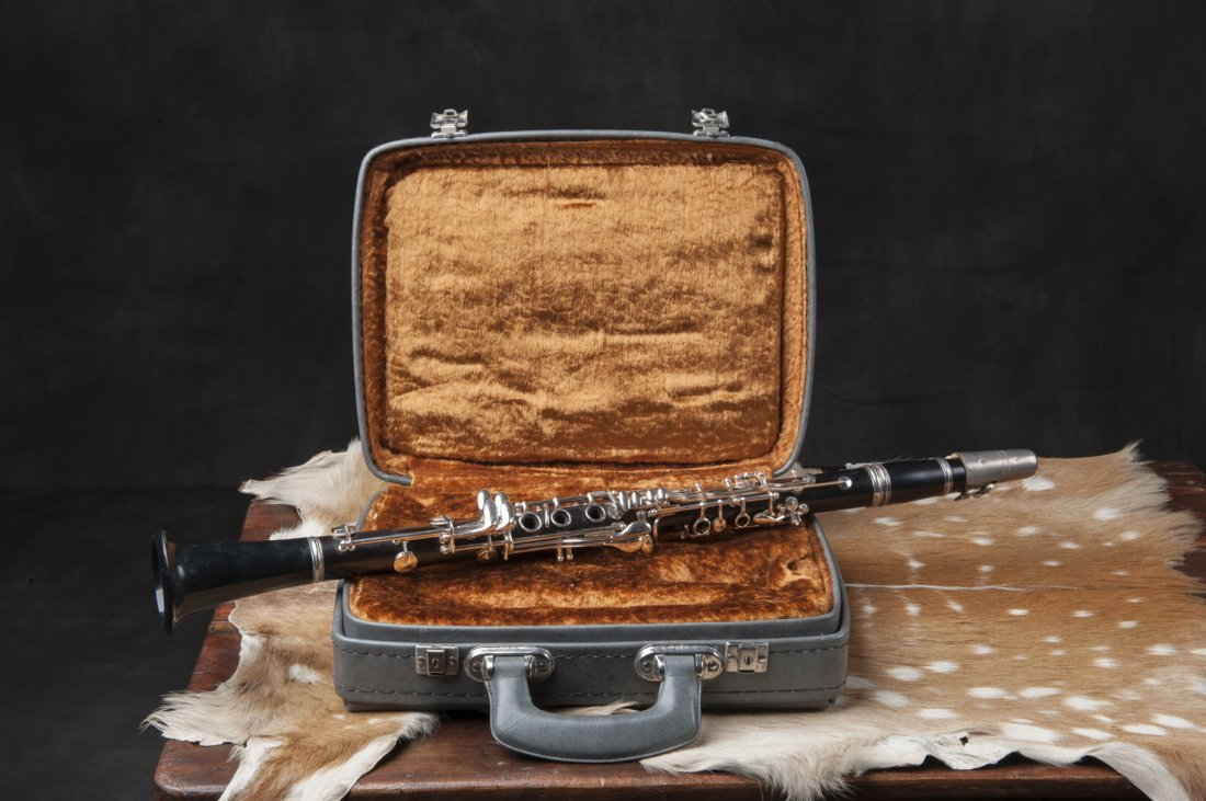 Clarinet with the suitcase. Ca 1940/60 Amati Krashoe