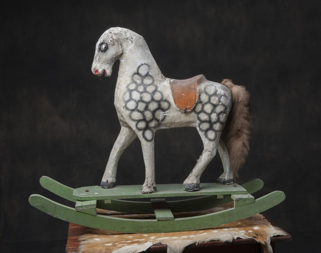 Papier mache horse from 1800