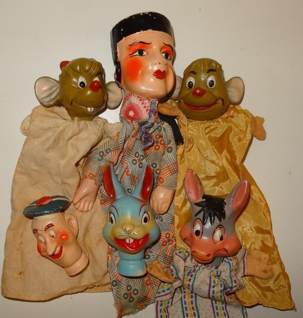 6 puppets werefrom 4 pc pre 1950 Walt Disney Puppets