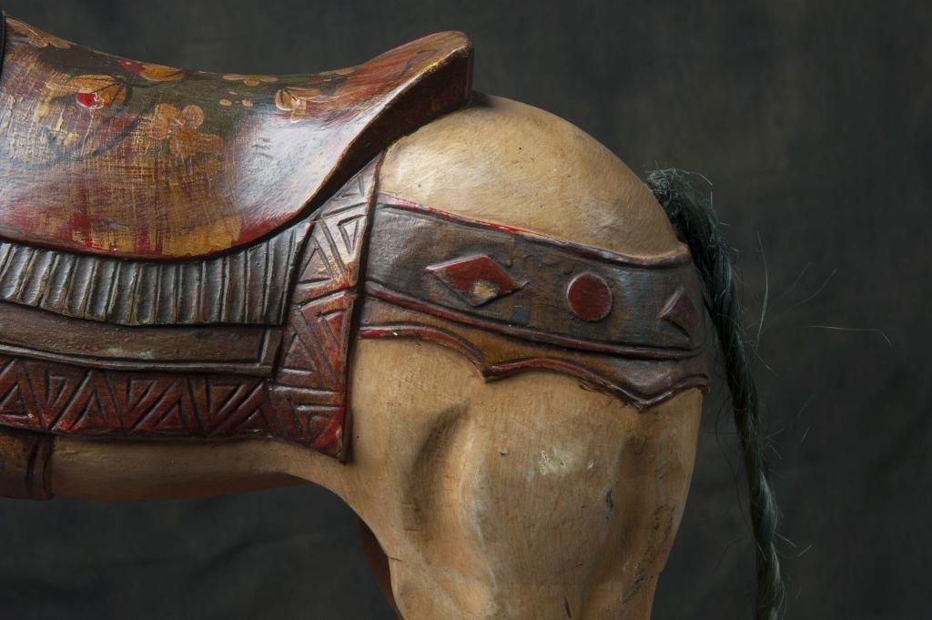 Wooden carousel horse - 4