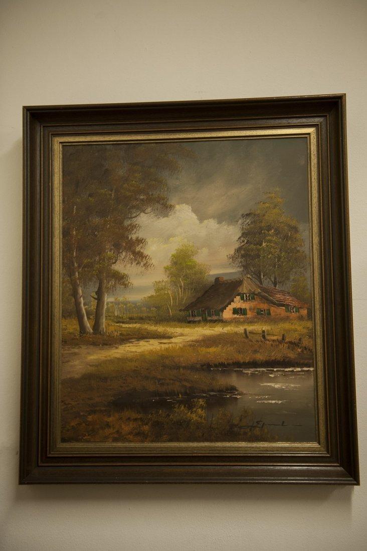 Painting Dutch landscape / farm
