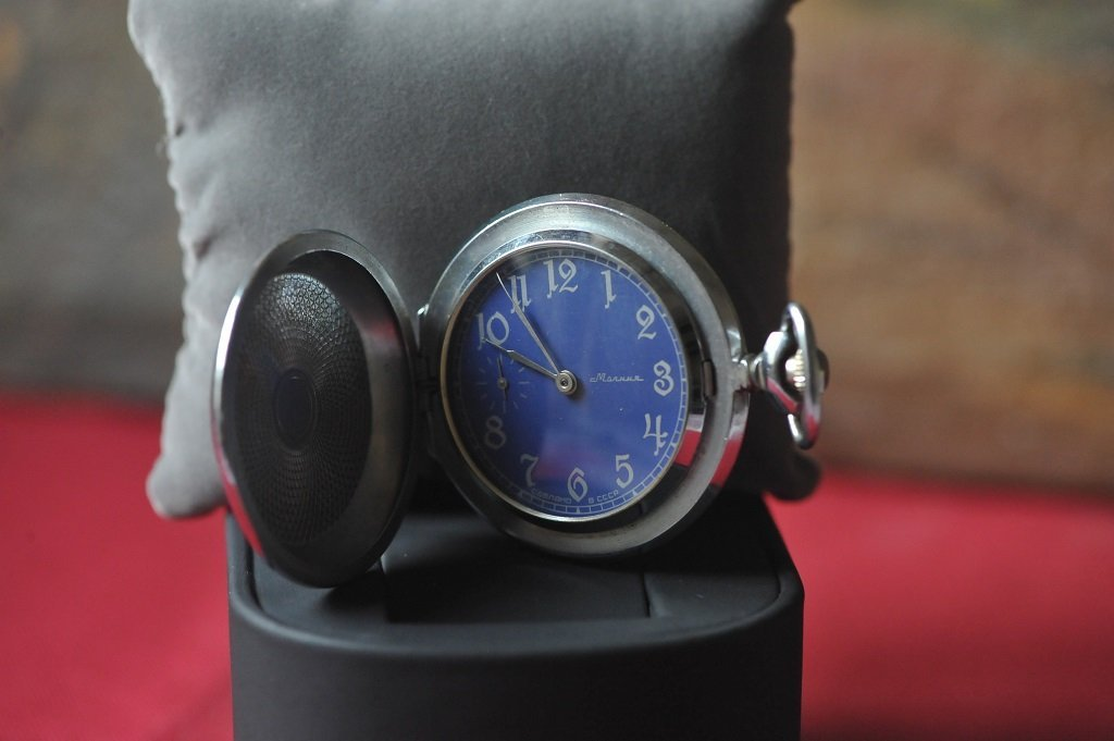 Silver half pocketwatch