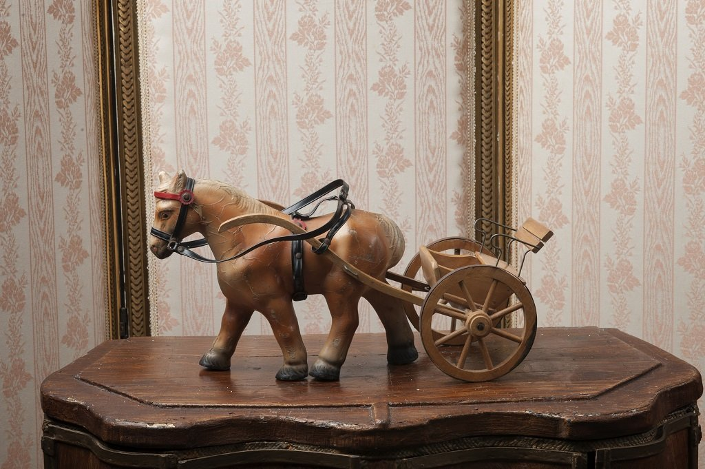 Beautiful horse and cart of the brand Steha