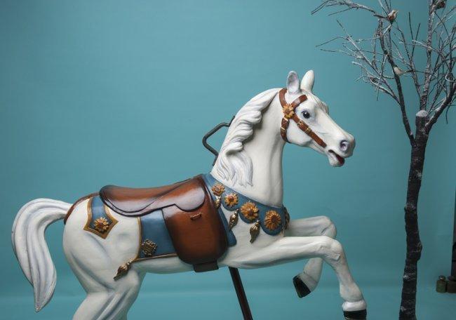 Wooden carousel horse-Gustav Bayol-1900