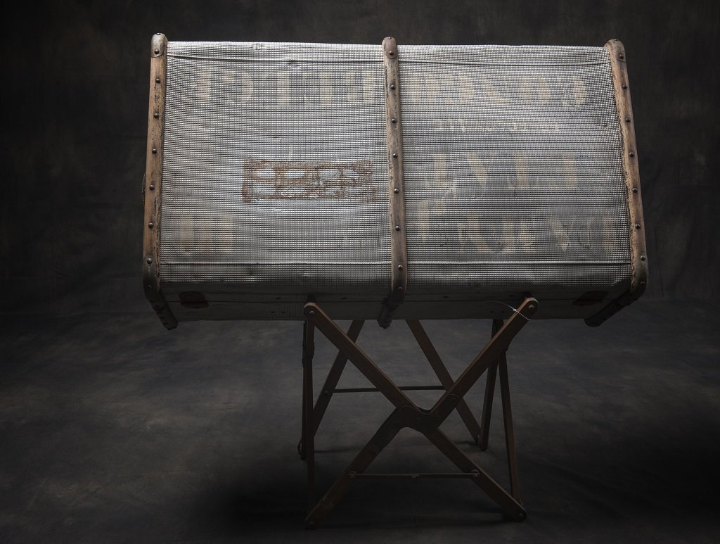 Large iron suitcase with keys Congo-Belgium