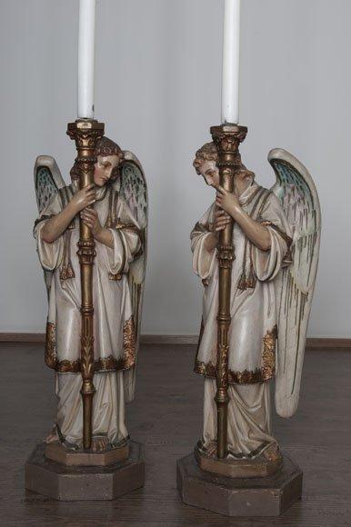 Two terracota angels