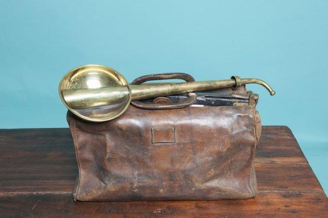 Antique copper hearing device Ca 1900