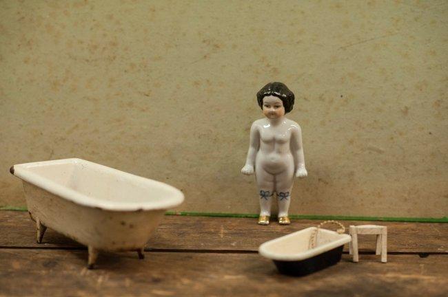 Frozen Charlotte porcelain bath doll