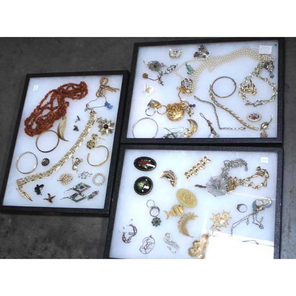 3: 3 Display Boxes of Jewelry