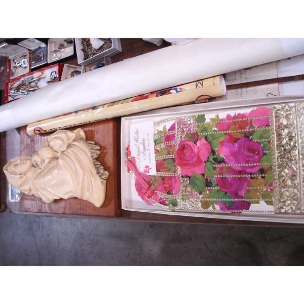 8: Lot of Paper Items & Madonna w/ Child