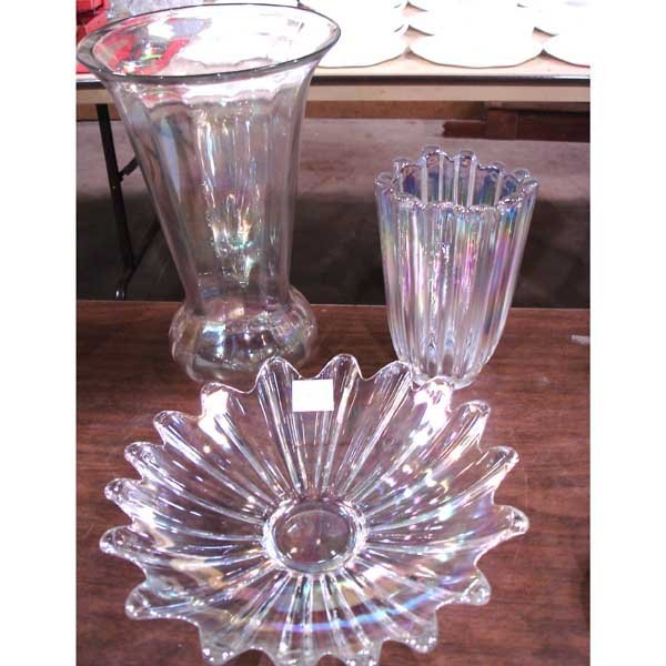 15: Tiffin Glass Bowl & Vases