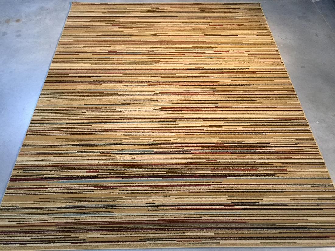 CONTEMPORARY STRIP PATTERN AREA RUG 8X10