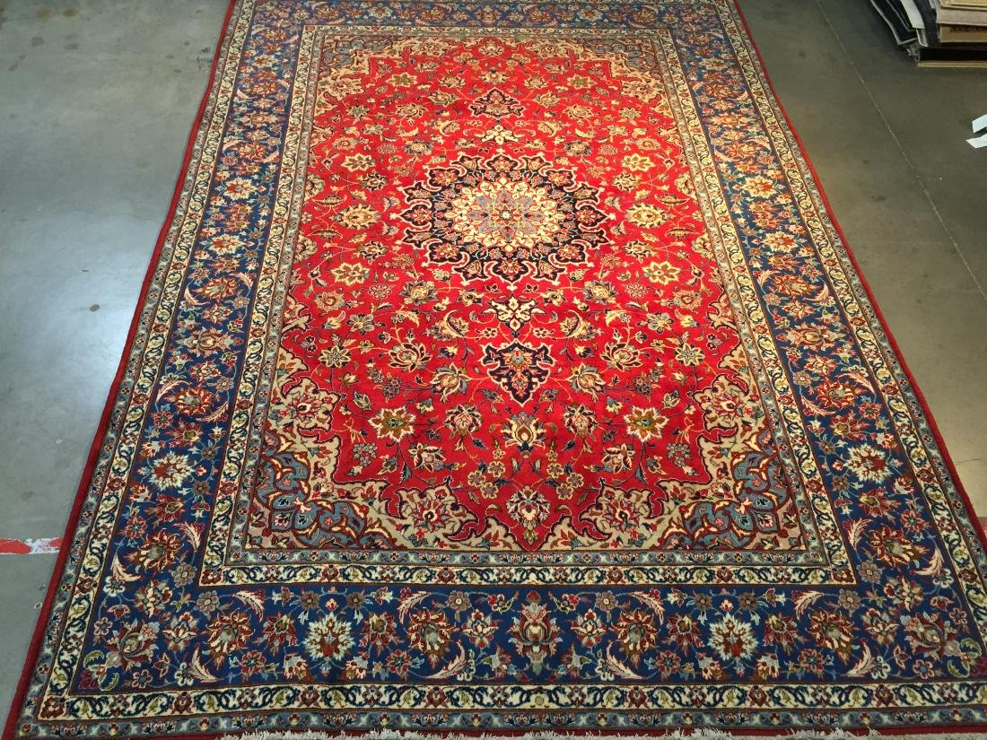 AUTHENTIC PERSIAN HAND KNOTTED WOOL ISFAHAN RUG