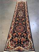 AUTHENTICFINE PERSIAN HAND KNOTTED SILK WOOL RUNNER