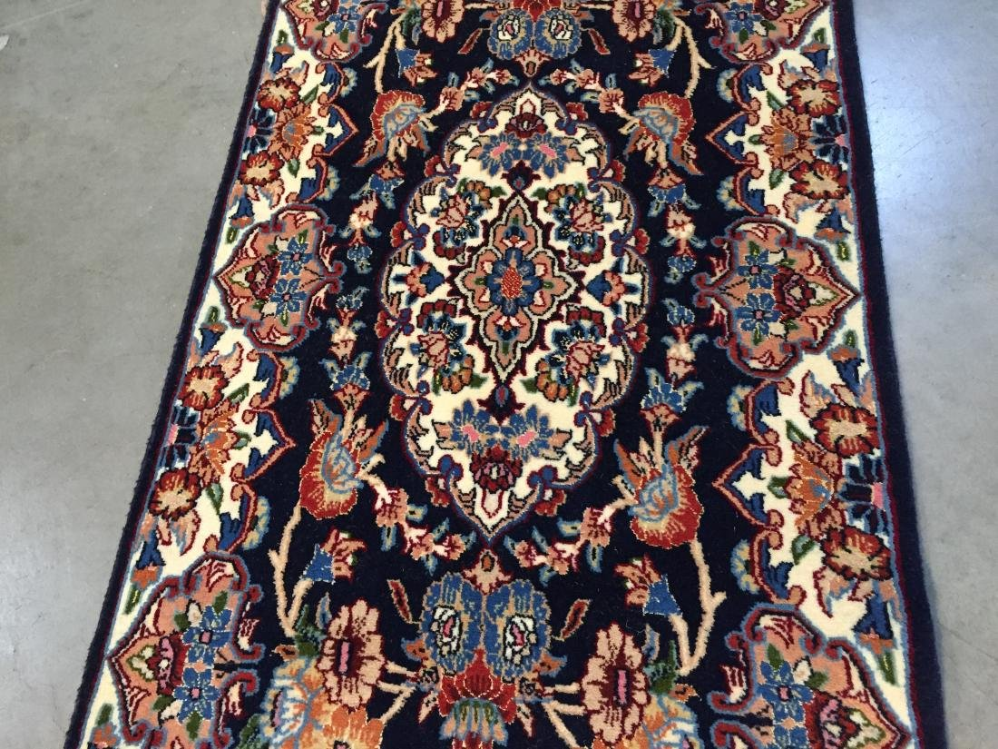 AUTHENTIC,FINE PERSIAN HAND KNOTTED SILK &WOOL RUNNER - 5