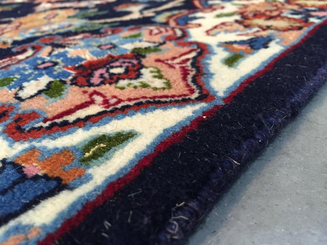 AUTHENTIC,FINE PERSIAN HAND KNOTTED SILK &WOOL RUNNER - 8