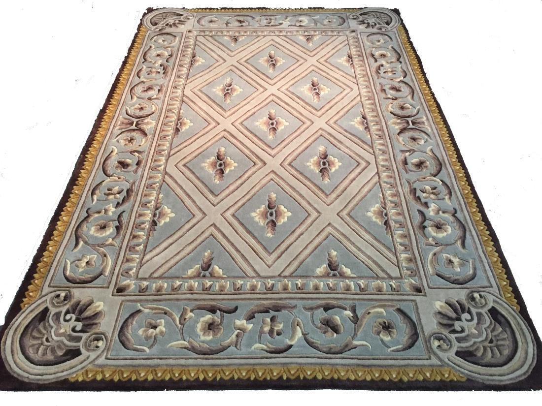 FRENCH PALACE DESIGN HAND CARVED AND TUFTED RUG 6x8