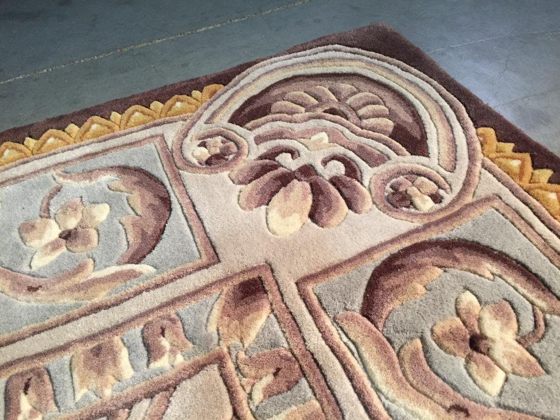 FRENCH PALACE DESIGN HAND CARVED AND TUFTED RUG 6x8 - 3