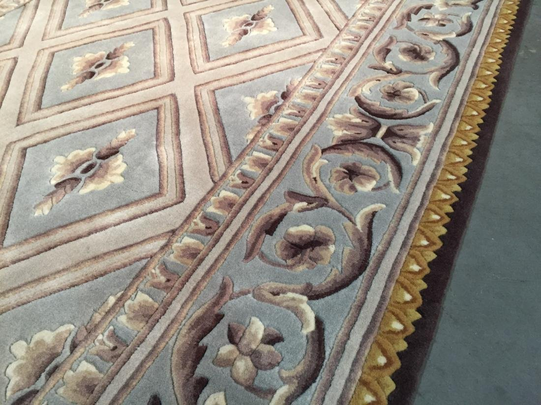 FRENCH PALACE DESIGN HAND CARVED AND TUFTED RUG 6x8 - 4