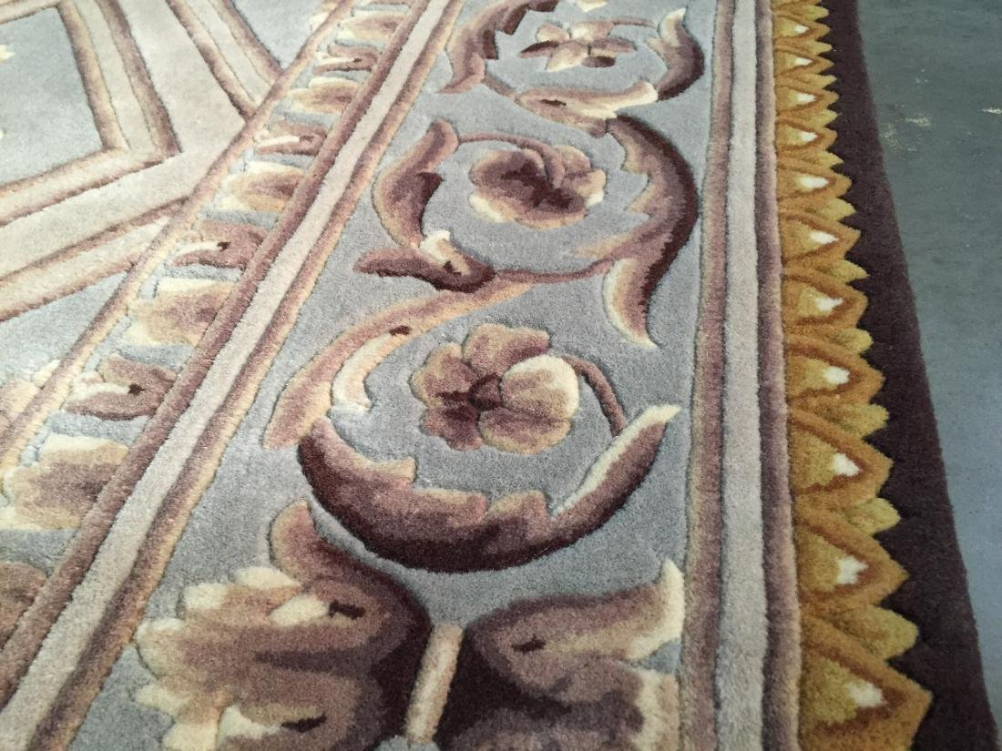 FRENCH PALACE DESIGN HAND CARVED AND TUFTED RUG 6x8 - 5