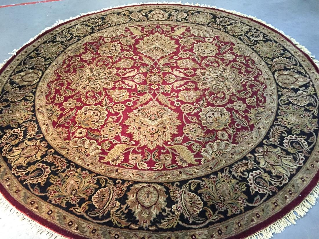 AUTHENTIC HAND KNOTTED JAIPUR RUG ROUND 8X8