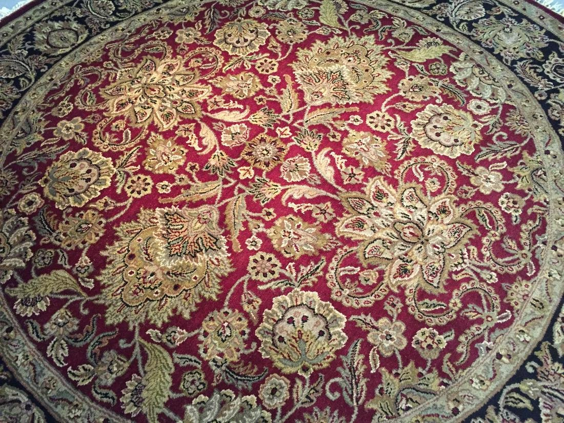 AUTHENTIC HAND KNOTTED JAIPUR RUG ROUND 8X8 - 2