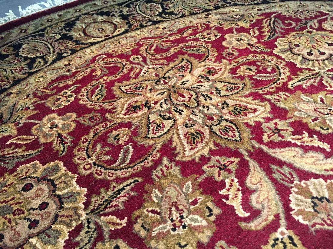 AUTHENTIC HAND KNOTTED JAIPUR RUG ROUND 8X8 - 3