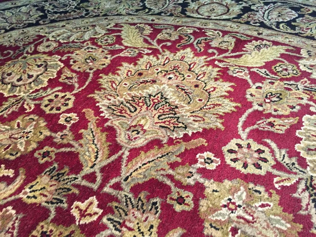 AUTHENTIC HAND KNOTTED JAIPUR RUG ROUND 8X8 - 4