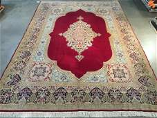 Authentic Persian Kerman Hand Knotted Rug 9x13