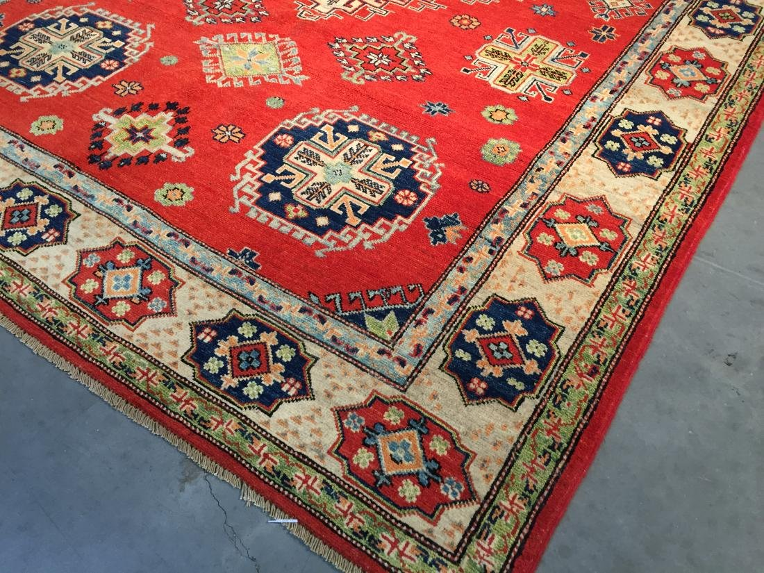 "HAND KNOTTED WOOL AUTHENTIC ""KAZAK""  RUG 6x9 - 3"