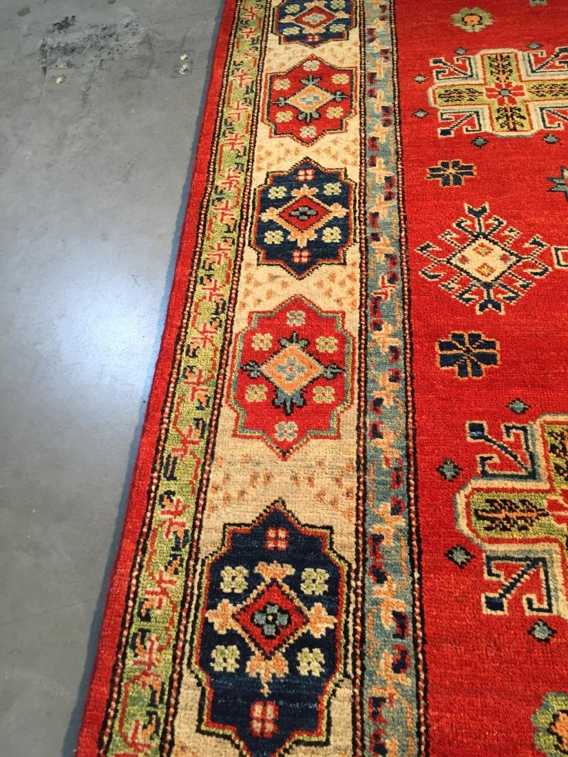 "HAND KNOTTED WOOL AUTHENTIC ""KAZAK""  RUG 6x9 - 5"