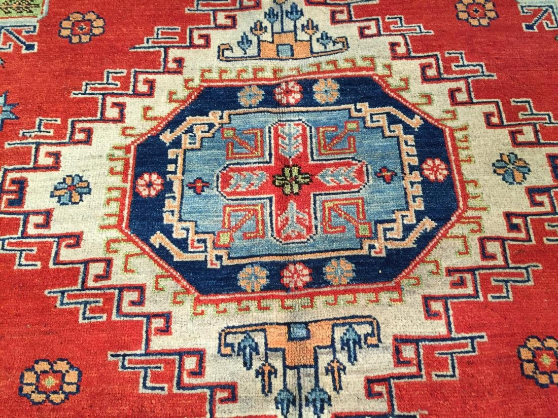 "HAND KNOTTED WOOL AUTHENTIC ""KAZAK""  RUG 6x9 - 6"