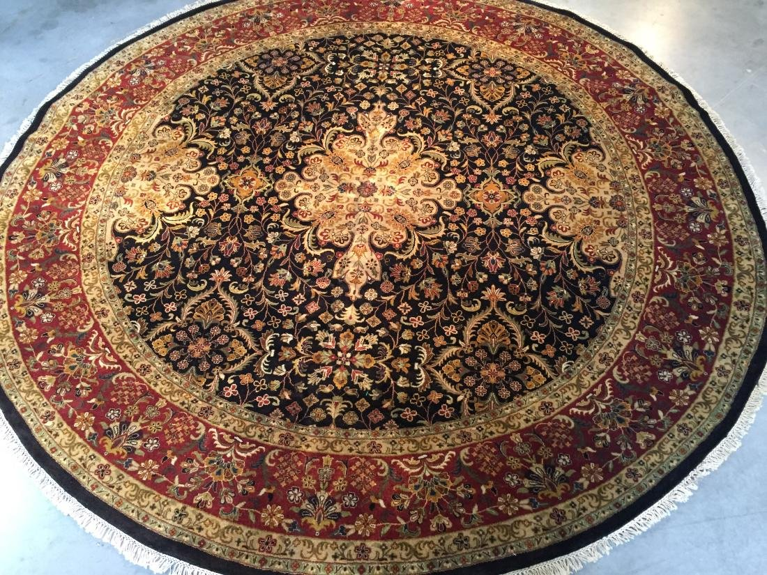MAGNIFICENT HAND KNOTTED PERSIAN TABRIZ ROUND RUG 9x9