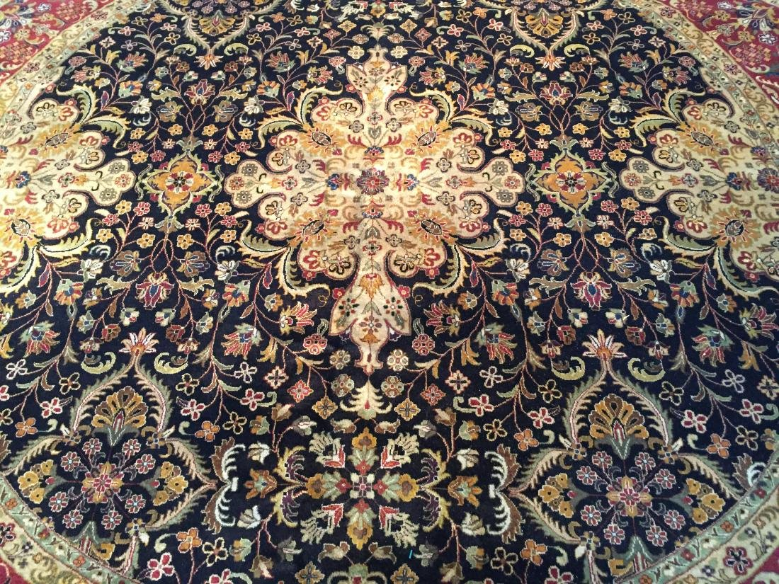 MAGNIFICENT HAND KNOTTED PERSIAN TABRIZ ROUND RUG 9x9 - 3