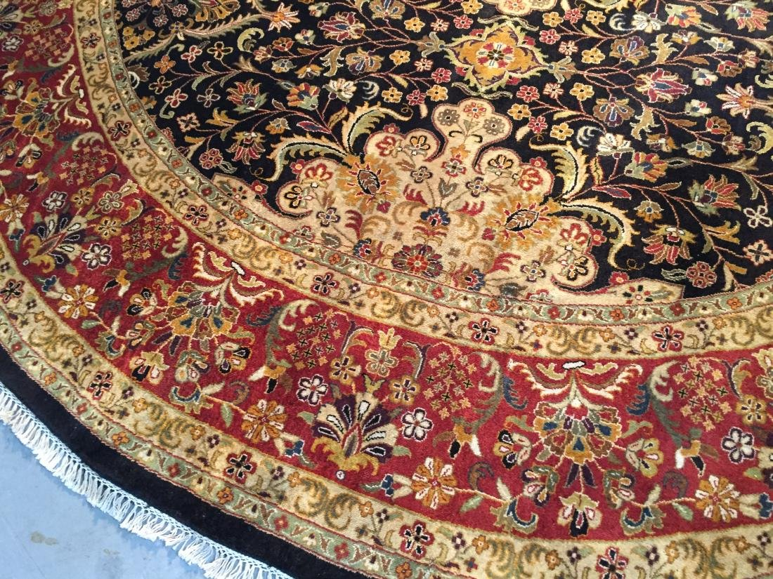 MAGNIFICENT HAND KNOTTED PERSIAN TABRIZ ROUND RUG 9x9 - 7