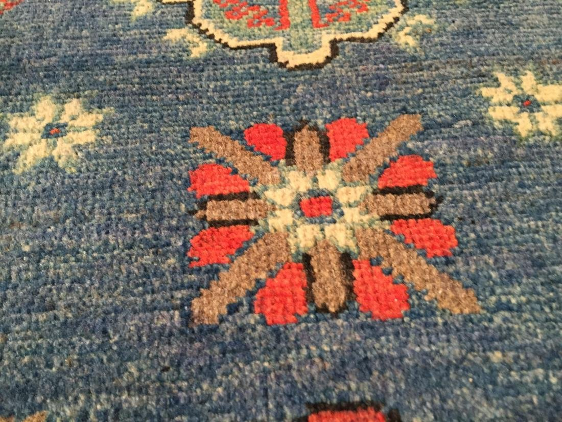 "AUTHENTIC HAND KNOTTED WOOL ""KAZAK"" RUNNER 3x10 - 3"