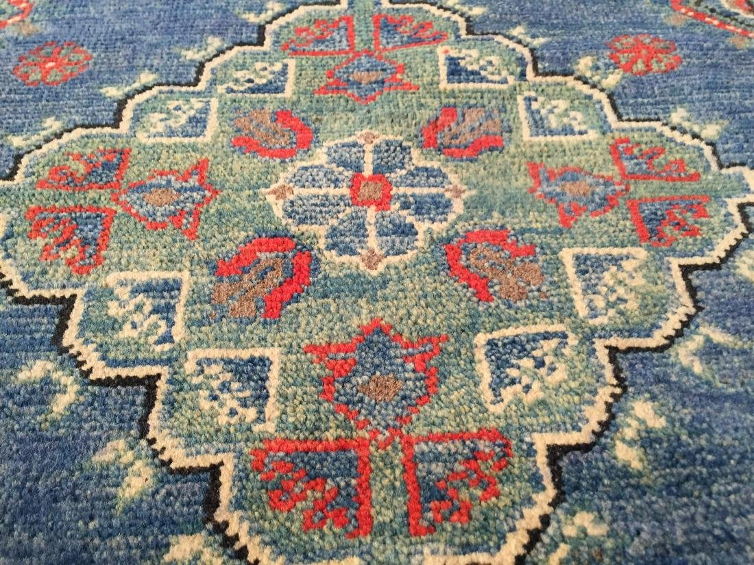 "AUTHENTIC HAND KNOTTED WOOL ""KAZAK"" RUNNER 3x10 - 4"