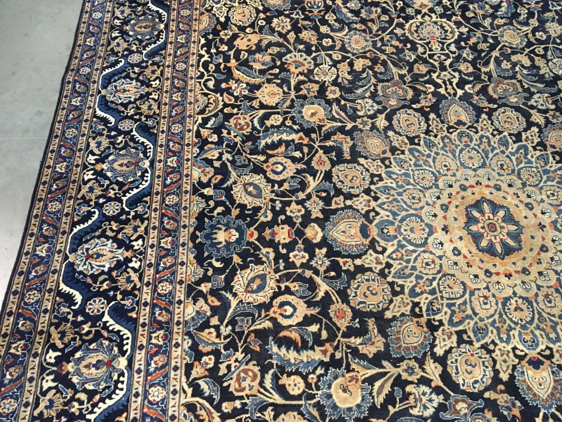 "MAGNIFICENT SEMI ANTIQUE PERSIAN KASHMAR RUG 9'.7""X12' - 2"