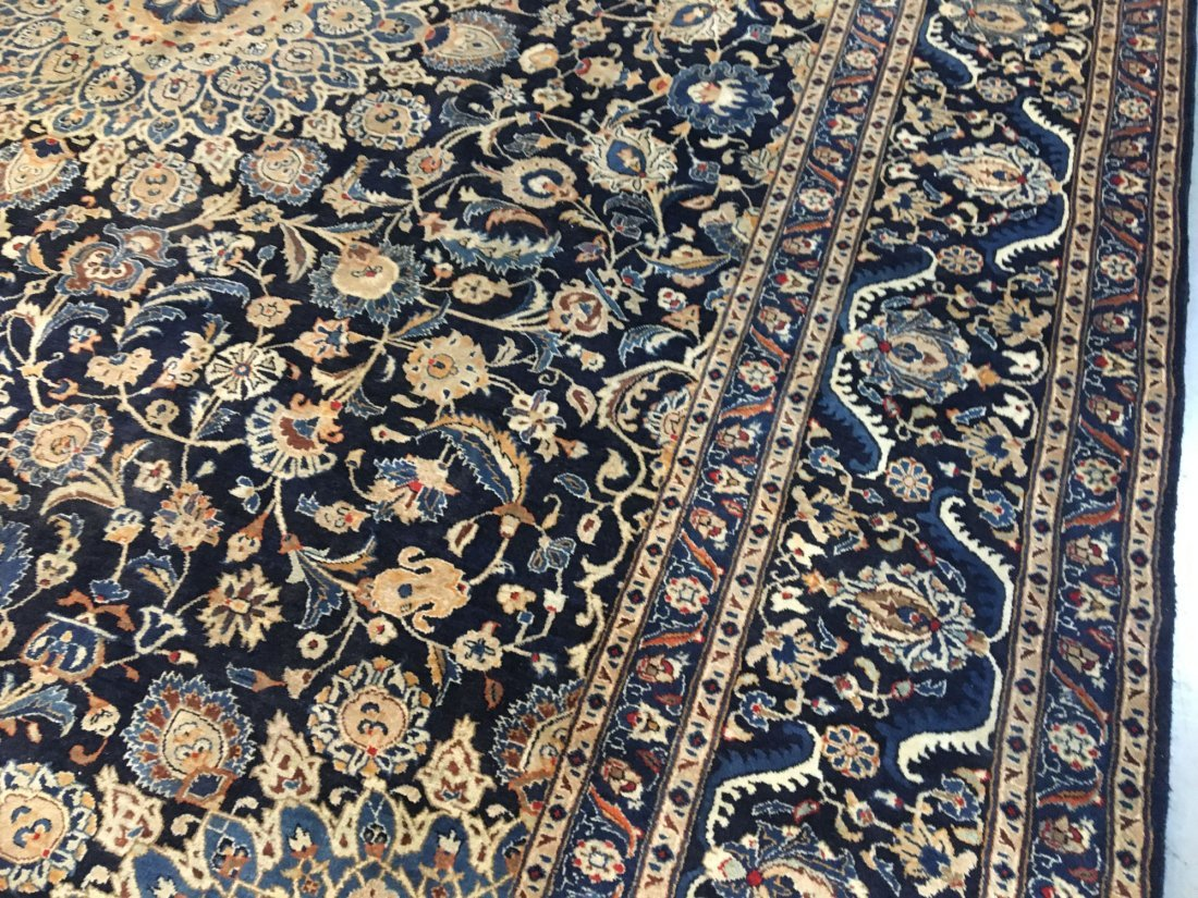 "MAGNIFICENT SEMI ANTIQUE PERSIAN KASHMAR RUG 9'.7""X12' - 5"